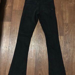 MOTHER Jeans - Mother Black Flared Leg Denim Jeans sz 29